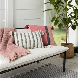 Hearth and hand tassel outdoor pillow new